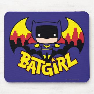 Tapis De Souris Chibi Batgirl avec l'horizon et le logo de Gotham