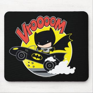 Tapis De Souris Chibi Batman dans le Batmobile
