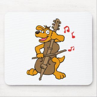 Tapis De Souris Chien jouant le violoncelle
