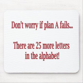 Tapis De Souris Citation drôle d'alphabet