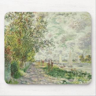 Tapis De Souris Claude Monet   la rive chez Gennevilliers