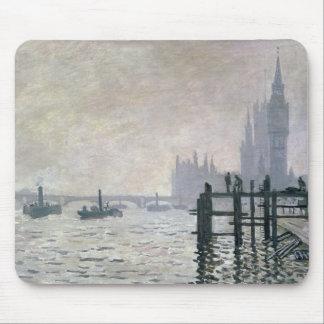 Tapis De Souris Claude Monet   la Tamise au-dessous de Westminster