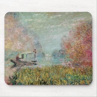 Tapis De Souris Claude Monet   le studio de bateau sur la Seine,