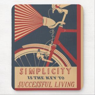 Tapis De Souris Clé de simplicité à la vie réussie