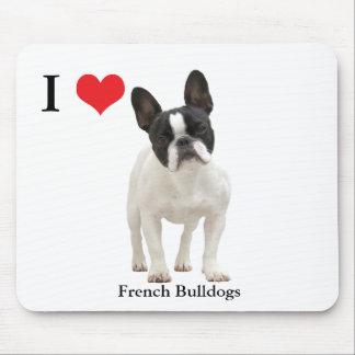 Tapis De Souris Coeur d'amour du bouledogue français I, mousepad,