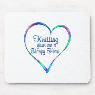 Tapis De Souris Coeur heureux de tricotage