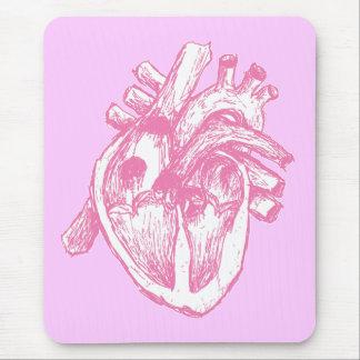 Tapis De Souris Coeur humain rose