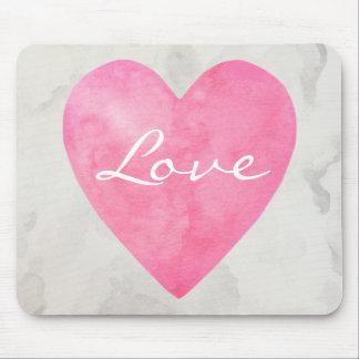 Tapis De Souris Coeur rose d'amour