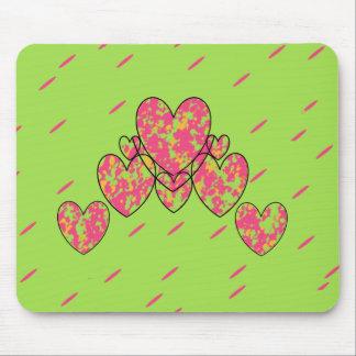 Tapis De Souris Coeurs heureux (c) - Lime-Pink_