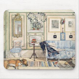Tapis De Souris Coin confortable par Carl Larsson
