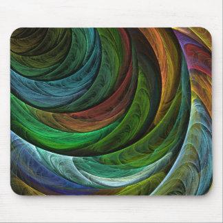 Tapis De Souris Colorez l'art abstrait Mousepad de gloire