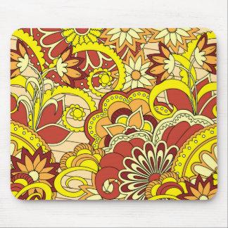 Tapis De Souris colorful yellow boho pattern