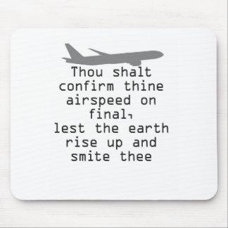 Tapis De Souris Commandement d'humour d'aviation