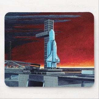 Tapis De Souris Concept soviétique de Launchpad de pleine lune de