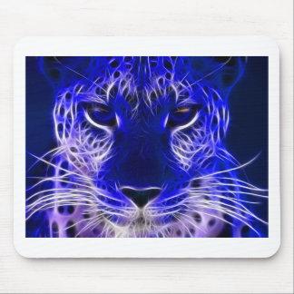 Tapis De Souris conception bleue de fractale de guépard
