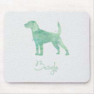 Tapis De Souris Conception d'aquarelle de beagle
