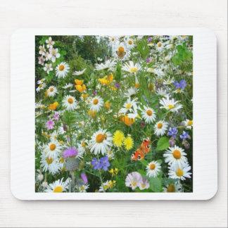 Tapis De Souris Conception de nature de plantes de fleurs sauvages
