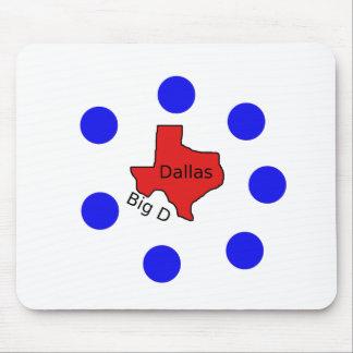 Tapis De Souris Conception de ville de Dallas, le Texas (grand D)