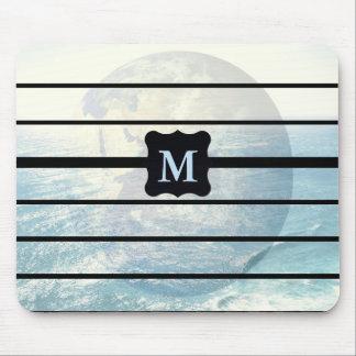 Tapis De Souris Conception décorée d'un monogramme d'océan de la