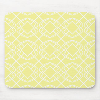 Tapis De Souris Conception douce de treillis de jaune de beurre de