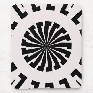 Tapis De Souris Conception noire et blanche de cercle