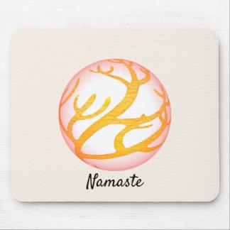 Tapis De Souris conception orientale Namaste de la sphère 3D