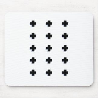 Tapis De Souris Conception scandinave moderne de croix suisses