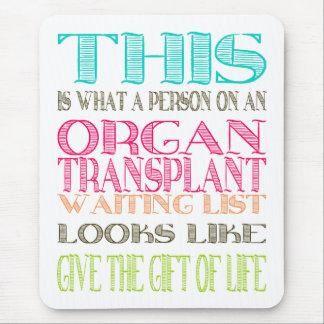 Tapis De Souris Conscience de donation d'organe