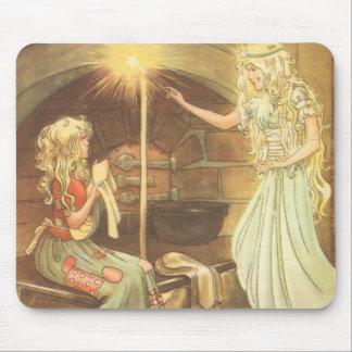 Tapis De Souris Conte de fées vintage, Cendrillon et marraine