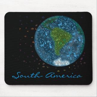 Tapis De Souris Continent de Colorfull Amérique du Sud