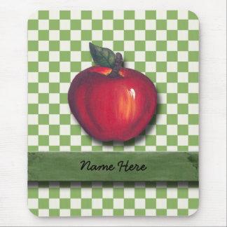 Tapis De Souris Contrôles vert pomme rouges