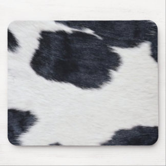 Tapis De Souris Copie noire/blanche de peau de vache occidentale