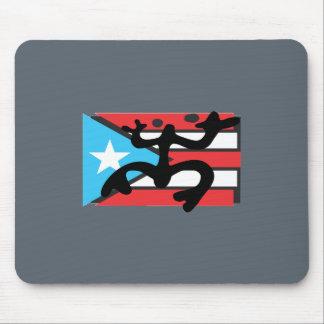 Tapis De Souris Coqui taíno sur le drapeau de Port Riche