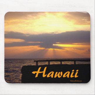 Tapis De Souris Coucher du soleil d'horizon d'Hawaï