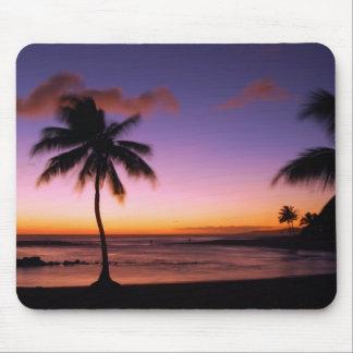 Tapis De Souris Coucher du soleil Mousepad de Kauai Hawaï