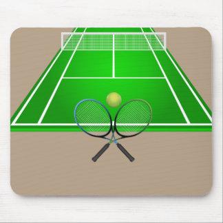 Tapis De Souris Court de tennis et raquettes Animated