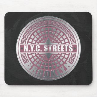 Tapis De Souris Couvertures de trou d'homme Brooklyn
