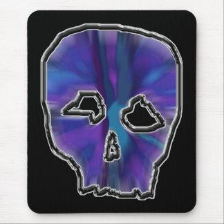 Tapis De Souris Crâne bleu et pourpre
