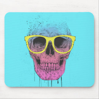Tapis De Souris Crâne d'art de bruit avec des verres