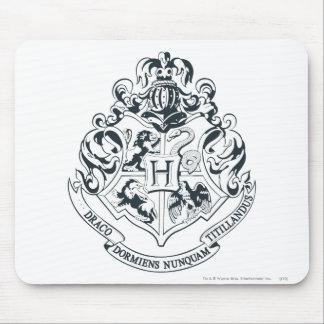 Tapis De Souris Crête de Harry Potter | Hogwarts - noire et