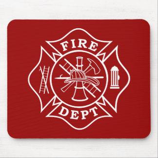 Tapis De Souris Croix maltaise Mousepad de département du feu