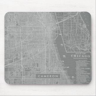 Tapis De Souris Croquis de carte de ville de Chicago