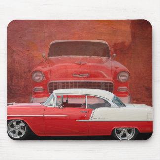 Tapis De Souris Cru blanc rouge de Dodge de voitures de Bel Air