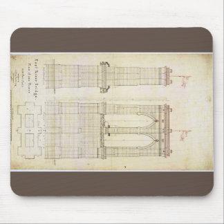 Tapis De Souris Cru de modèle d'architecture du pont de Brooklyn
