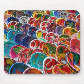 Tapis De Souris Cuvettes mexicaines maya colorées