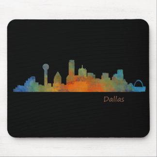 Tapis De Souris Dallas Texas Ville Watercolor Skyline Hq v1