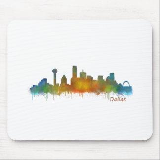 Tapis De Souris Dallas Texas Ville Watercolor Skyline Hq v2
