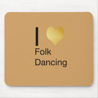 Tapis De Souris Danse folklorique de coeur par espièglerie élégant
