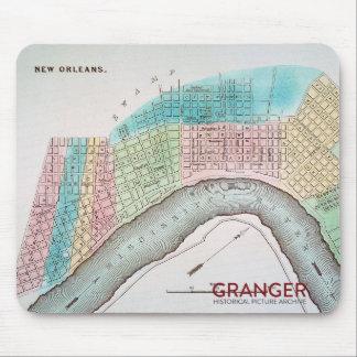 Tapis de souris de carte de la Nouvelle-Orléans