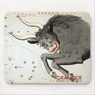 Tapis de souris de constellation de Taureau
